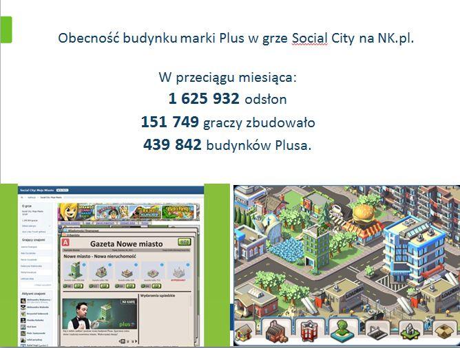 Plus GSM w grze Social City Moje Miasto