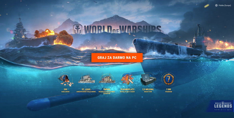 Bonus dla nowych graczy w World of Warships