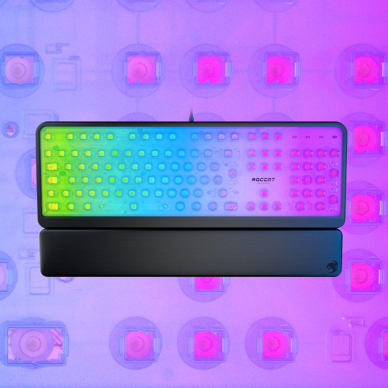 Roccat – Przedefiniuj z nami świat gamingu, dzięki membranowym mechanicznym klawiaturom Roccat Pyro i poznaj zalety spektakularnego oświetlenia RGB w Roccat Magma!